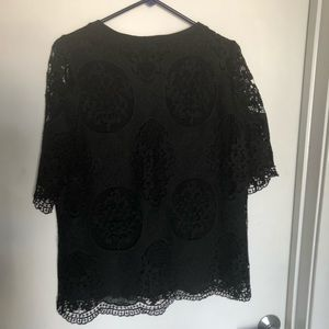 Black lace blouse size small